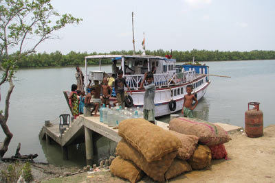 boat taking to island